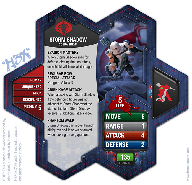 Custom Storm Shadow By Annerios • Card Design By Hextr1p