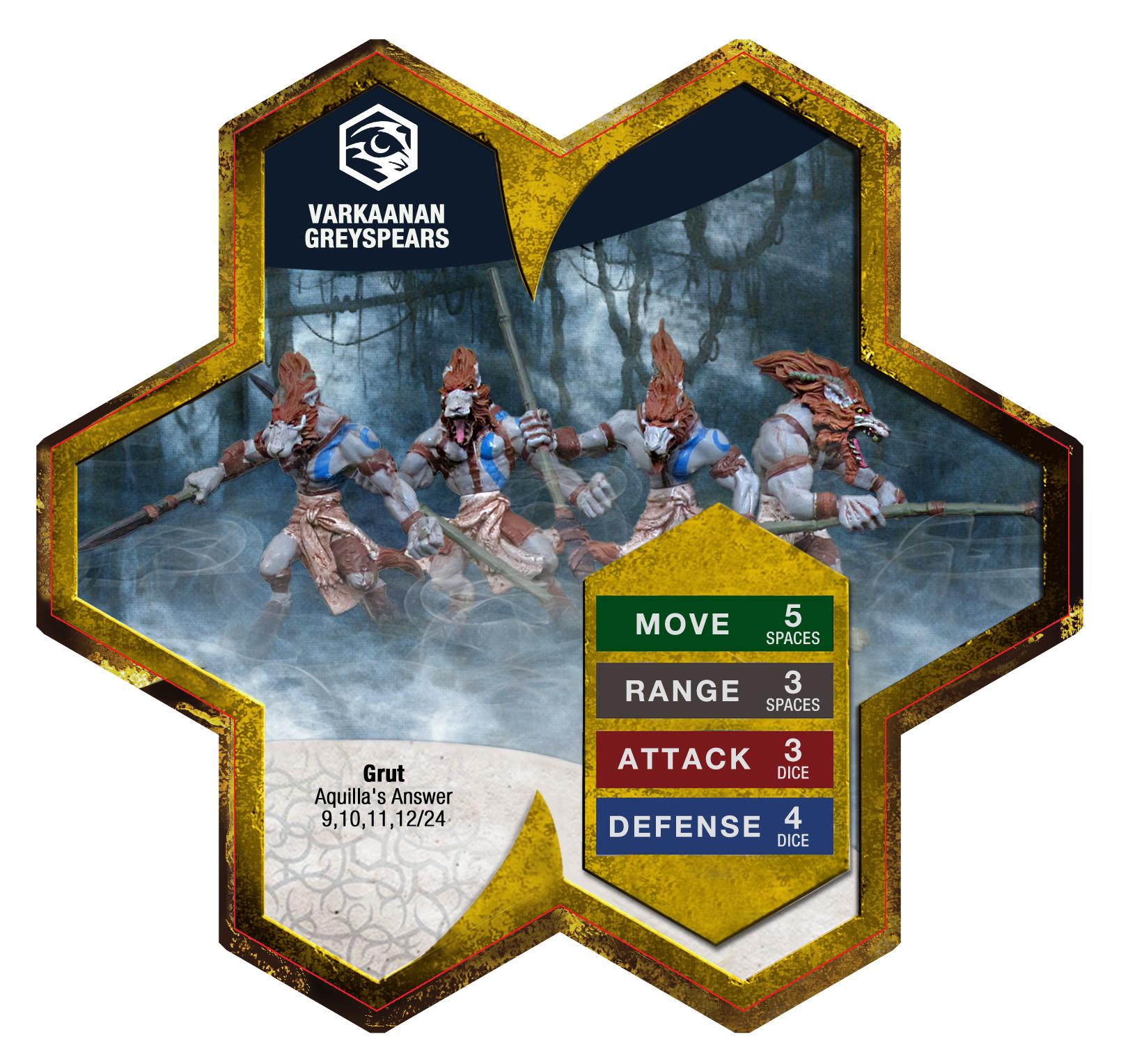 Heroscape Varkaanan Greyspears C3V Custom