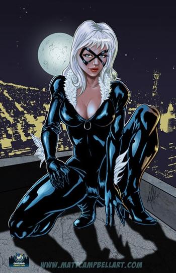 Marvel Black Cat Card